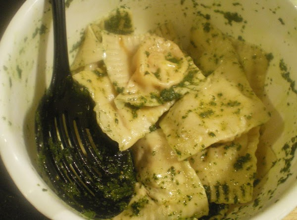Remove to serving bowl and toss with pesto.  Sprinkle with additional parmesean cheese...