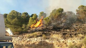 Incendio en Sierra de Gádor.