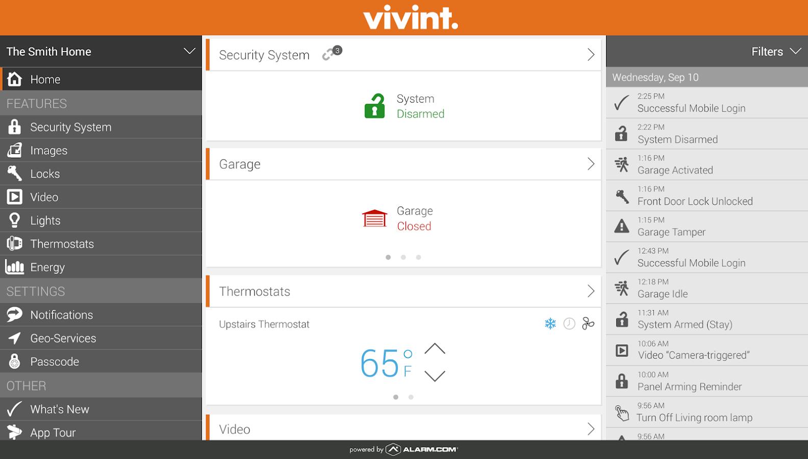 Vivint Classic- screenshot