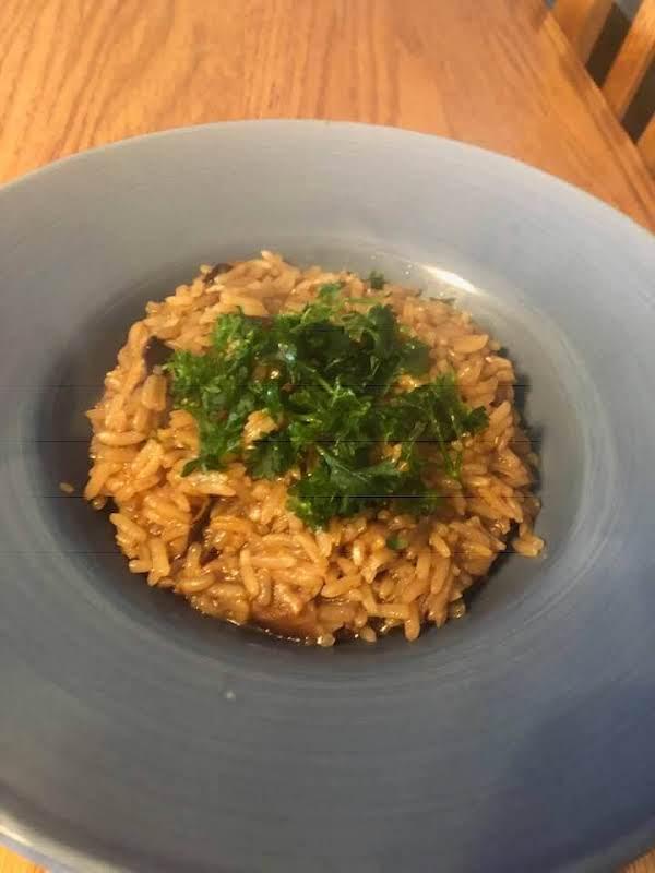 Au Jus Mushroom Rice Recipe