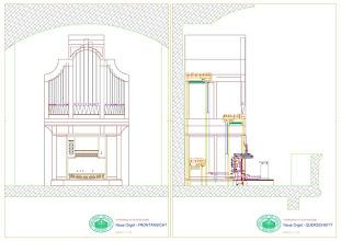 Photo: Načrt za nove orgle - Plan für die neue Orgel - Blueprint of the new organ