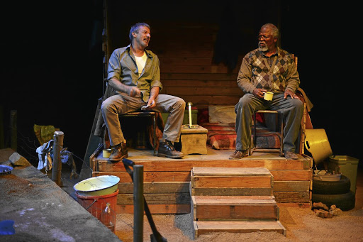 Crossing of paths: Actors Dawid Minnaar, left, and John Kani return in Athol Fugard's play The Train Driver, which has received rave reviews and has been staged in the US and UK. Picture: LUNGELO MBULWANA