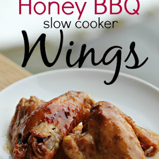 Honey BBQ Slow Cooker Wings #Recipe
