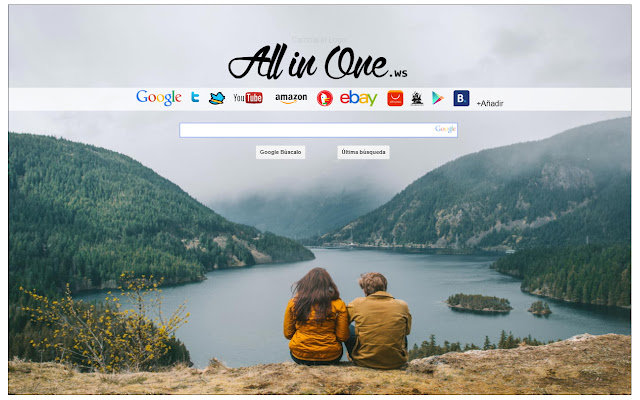 All in your new tab start page