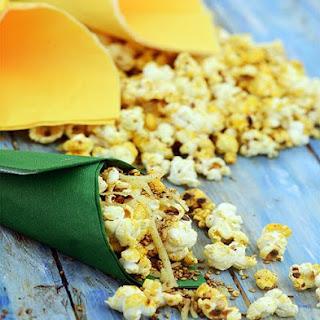 Spiced Sesame Popcorn