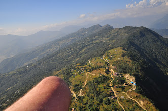 Photo: Paragliding over Pokhara Valley
