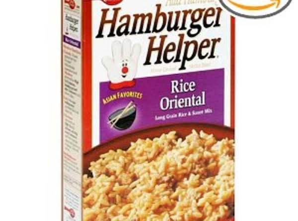 Similar To The Hamburger Helper Rice Oriental