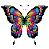 Butterfly Pixel Art - coloring by number