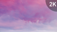 White Pink Cirrus Clouds on Violet Sky - 12