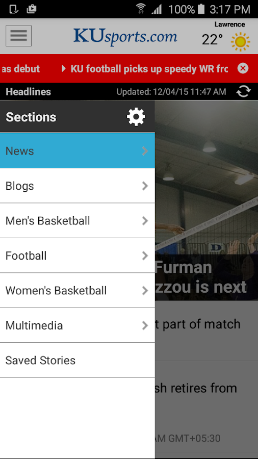 KUsports- screenshot