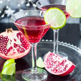 Skinny Pomegranate Martini.