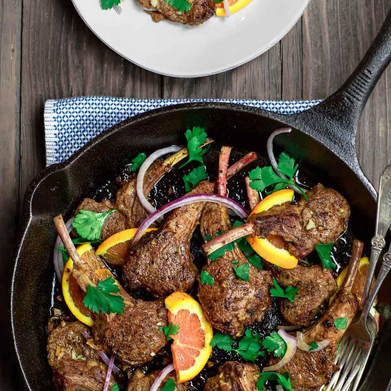 Easy Orange Harissa Lamb Chops