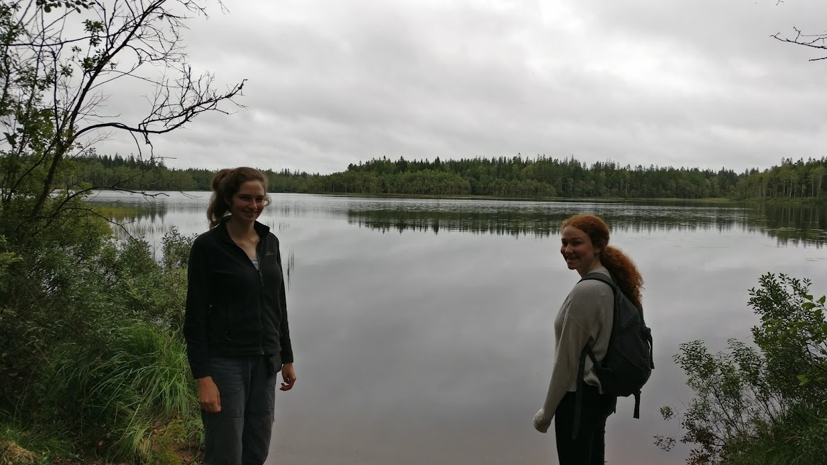 Laura and Hannah at a lake
