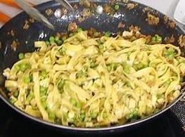 Fettuccine Carbonara With Peas Recipe