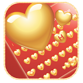 Golden Heart Love Keyboard