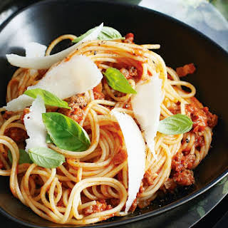 Spaghetti With Spicy Bolognese.
