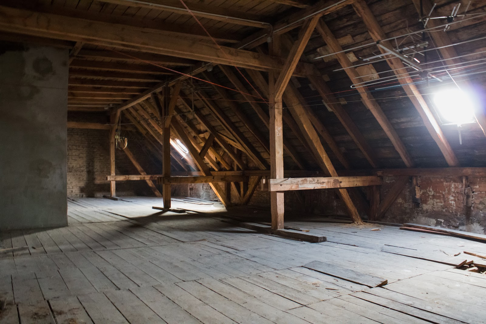 Converting an attic to living space-