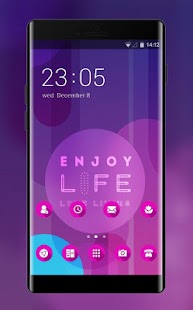 Simple Purple Theme: Love quotes Wallpaper - náhled