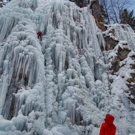 In The Ice by Dragica Šilak - Sports & Fitness Climbing ( climbing, mountains, ice )
