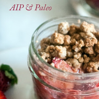 Strawberry Rhubarb Crumbles (AIP, Paleo, Vegan).