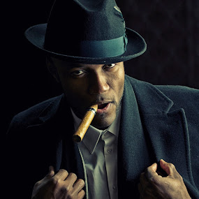 by Stevenson Martin - People Portraits of Men ( cigar, hat )