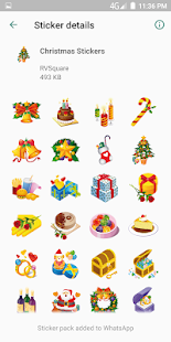Christmas Stickers For Whatsapp - WAStickerApps 19 Screenshot