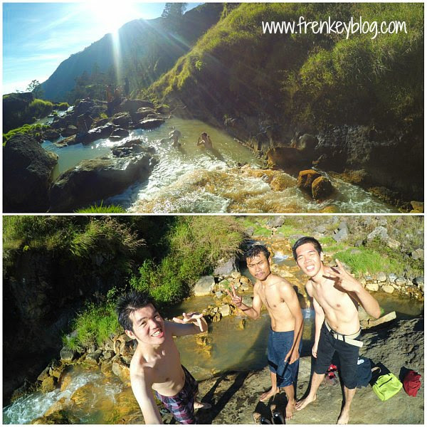 Best Part Pendakian Rinjani! Mandi Air Panas di Alam Terbuka~~
