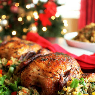 Tyson® Creole Cornish Hens with Rice Dressing.