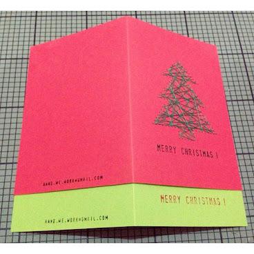 針線聖誕卡