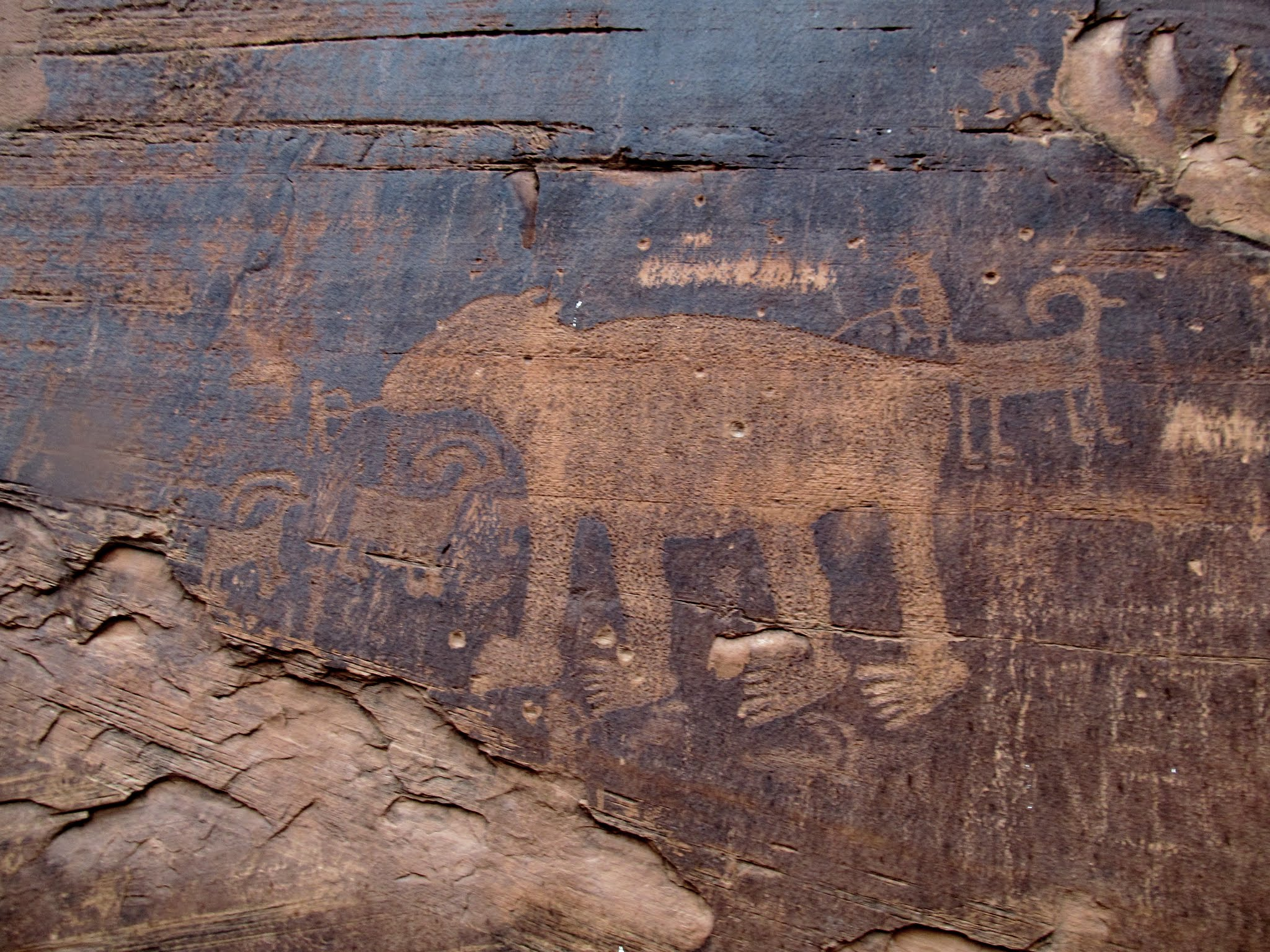 Photo: Large bear petroglyph
