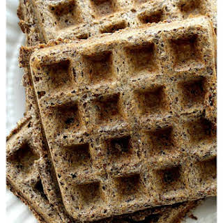 Low Carb Gluten Free Flax Seed Waffles.