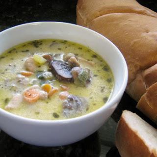 Creamy Chicken Mushroom Soup.