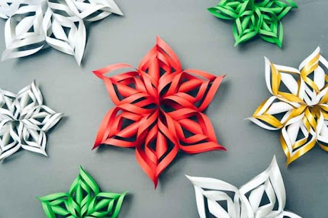 Make 3D Paper Snowflake - náhled