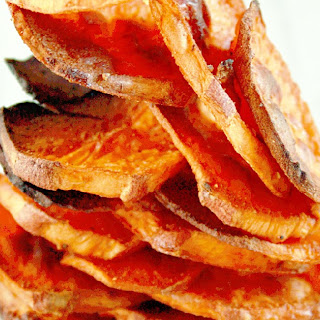 Baked Sweet Potato Chips - Sweet & Spicy