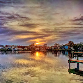 Sunset Creek by Chris Montcalmo - Landscapes Sunsets & Sunrises ( relight, relight edit )