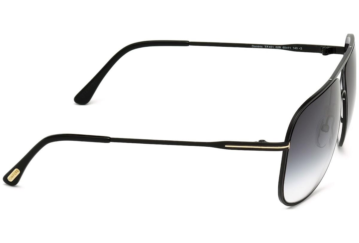 7016f40fbc0 Sunglasses Tom Ford Dominic FT0451 C60 02B (matte black   gradient smoke)