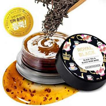 韓國 LG 品牌DEARPACKER 紅茶玫瑰補水鎮定面膜
