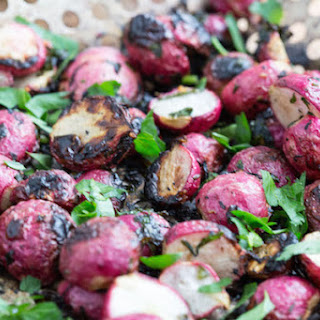 Garlic and Herb Butter Grilled Radishes.