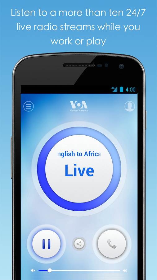 VOA Mobile Streamer- screenshot