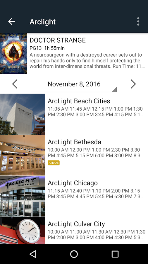ArcLight Cinemas- screenshot