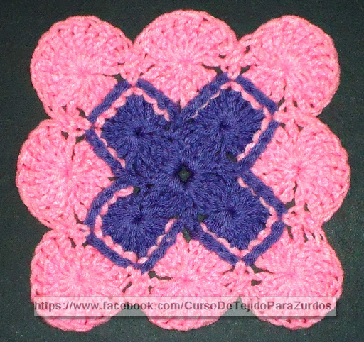 bavarian stitch punto fantasía tejido al crochet ganchillo para zurdos