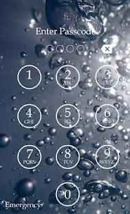 Bubble Keypad Lock Screen screenshot