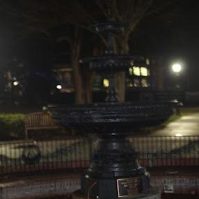 fountajn by Matthew Donathan - City,  Street & Park  Fountains ( fountain, university, cannon, virginia, night photography )