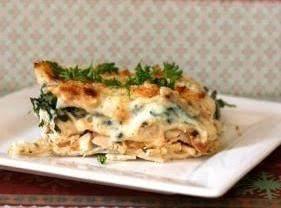Creamy White Cheesy Chicken Lasagna