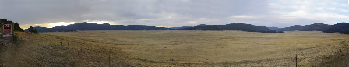 Photo: Valle Grande Caldera - volcano that created mesa on which Los Alamos, New Mexico, is located