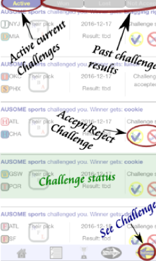 Ausome Sports Pick & Challenge cheat screenshots 5