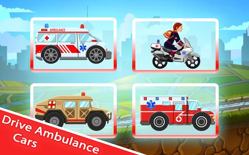 無料教育Appのキッド 救急車 レーシング - 医学について学ぼう!|記事Game