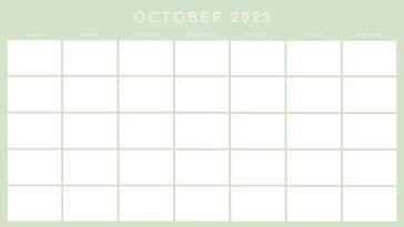 Basic Monthly - Monthly Calendar template