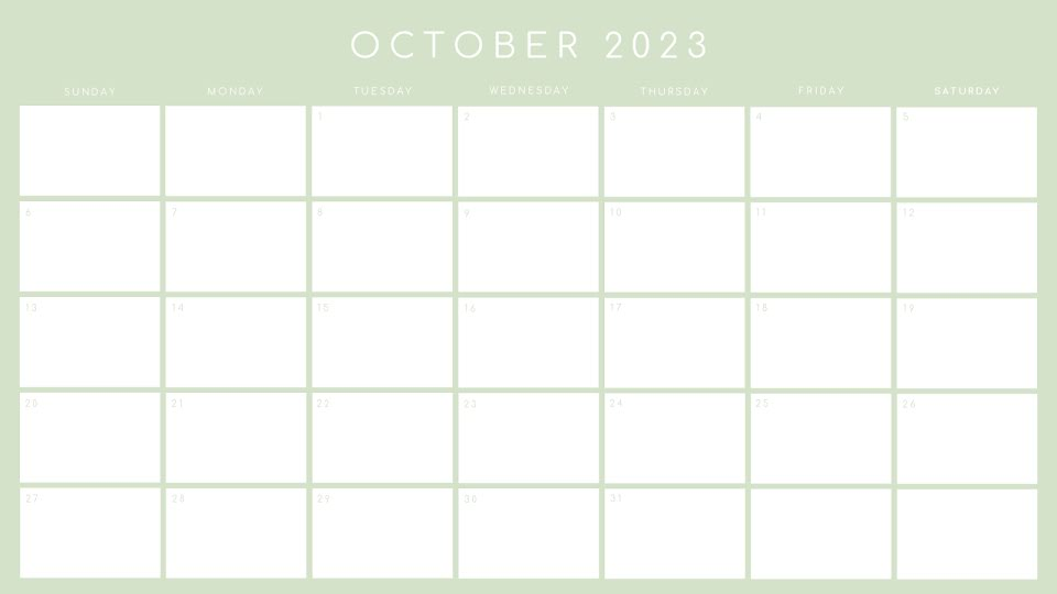 Basic Monthly - Calendar Template