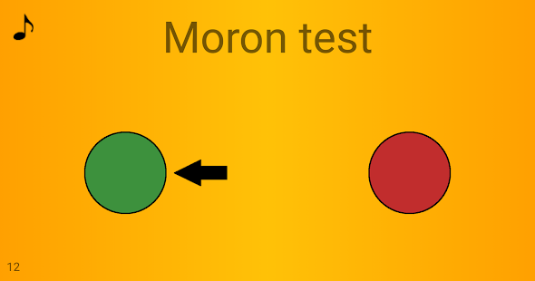 Moron test - náhled
